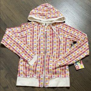 Roxy Bryant Multi Heart Print Zip Hoody Sweatshirt
